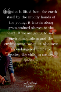 Save the endangered species: the child in nature